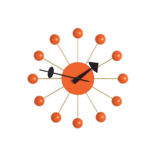 Wall Clock VITRA Ball Clock Orange