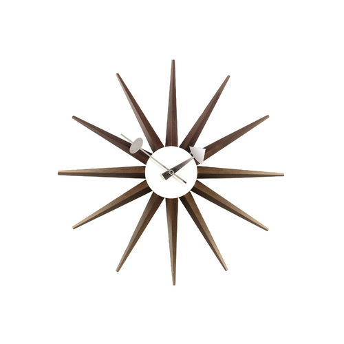 Wall Clock VITRA Sunburst Walnut