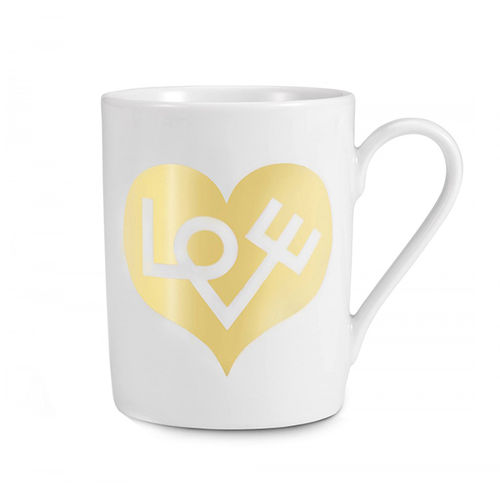 "Taza VITRA Coffee Mug ""Love Heart, Gold"""