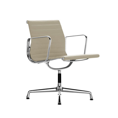VITRA Aluminium Chair EA 107 Leather
