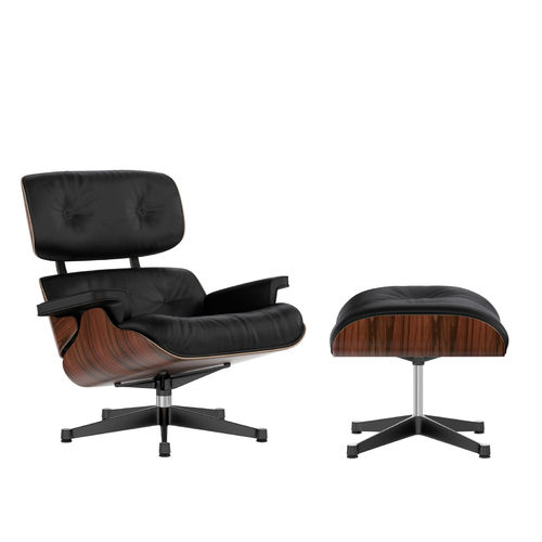Lounge Chair + Ottoman VITRA Palisander Black